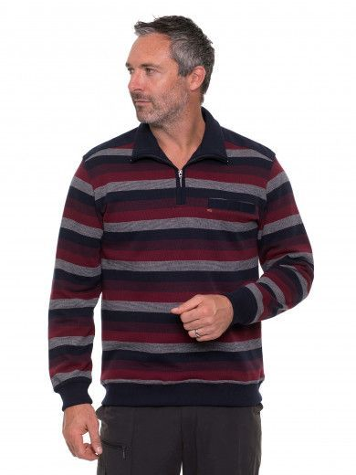 French Rib Y/d 1/2 Zip Top