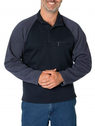 Hugh Snowy Mt Fleece Half Zip